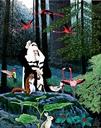 האיש ביער עם חיות