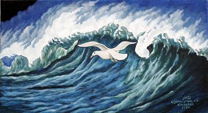 גלי ים שחפים