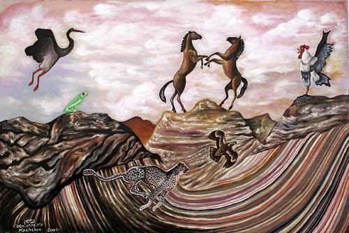 שני סוסים באוויר